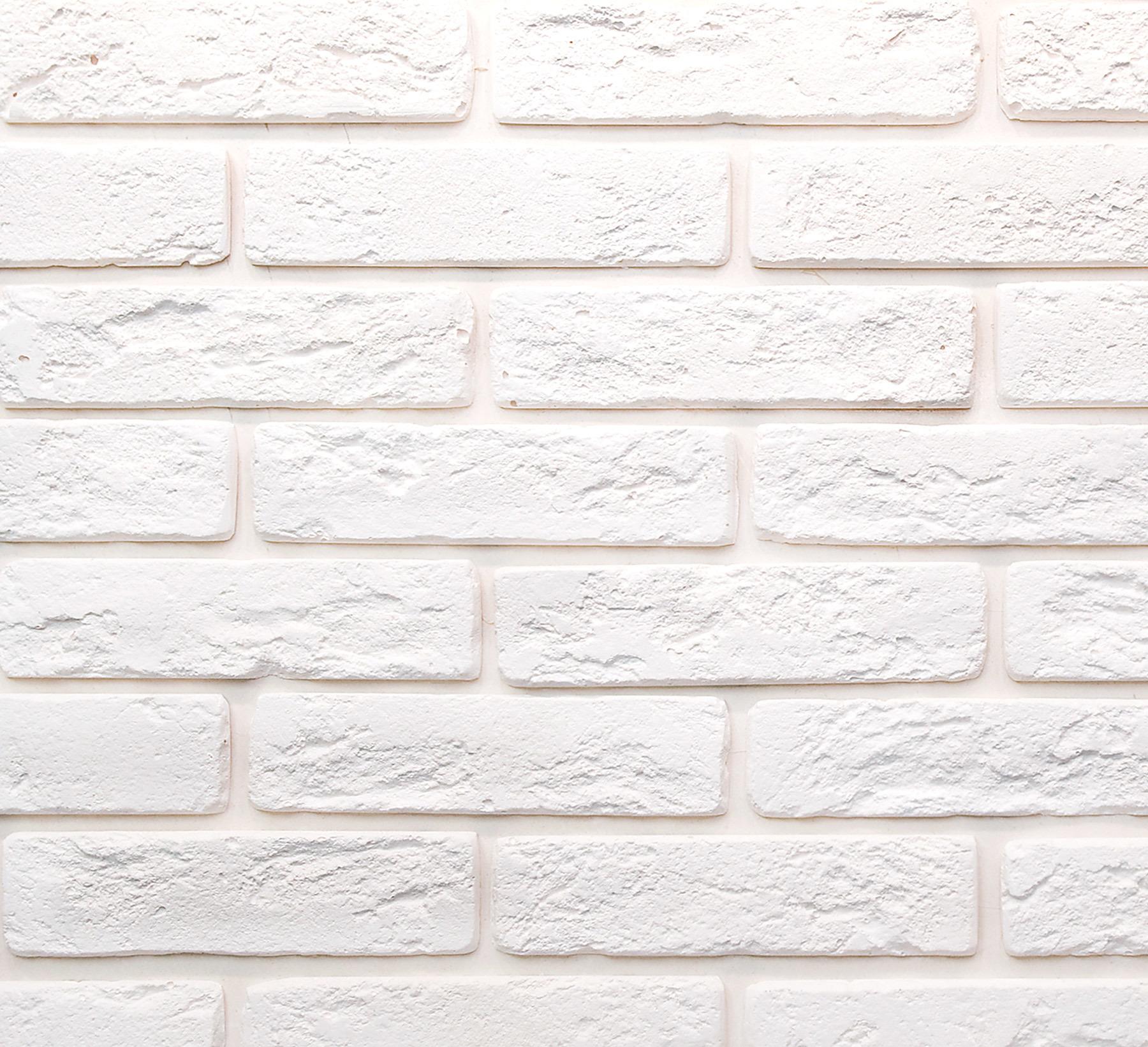 кирпичик белый декоративный