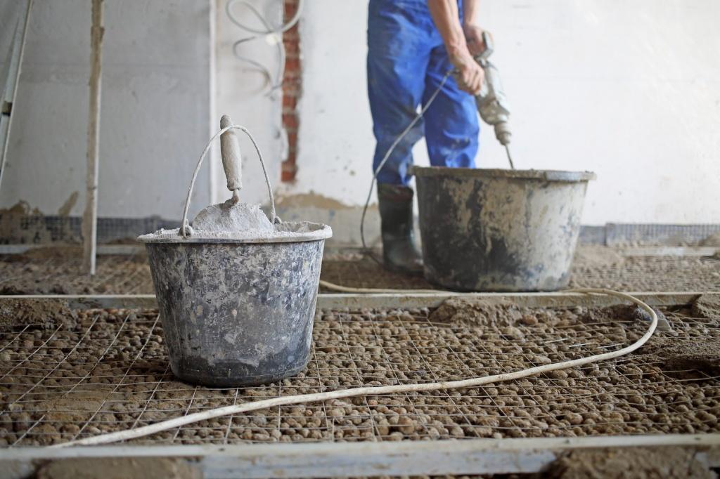 применение цементного раствора